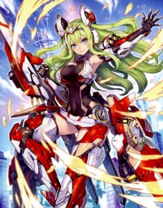 Rating: Safe Score: 47 Tags: 2d armor leotard mecha_musume ragnastrike_angels screening thighhighs weapon User: Thatman