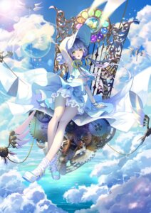 Rating: Questionable Score: 36 Tags: bloomers bra catcan dress heels luo_tianyi shirt_lift skirt_lift vocaloid User: sym455