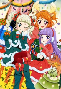 Rating: Safe Score: 14 Tags: aikatsu! animal_ears autographed christmas heels hikami_sumire horns oozora_akari pantyhose toudou_yurika watanabe_satomi User: drop