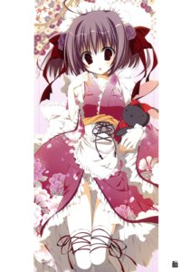 Rating: Safe Score: 24 Tags: inugami_kira kimono maid nopan thighhighs User: crim
