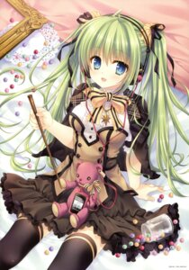 Rating: Safe Score: 76 Tags: dress headphones melonbooks tatekawa_mako thighhighs User: Twinsenzw