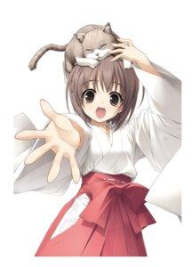 Rating: Safe Score: 24 Tags: haruka_na_sora hashimoto_takashi miko neko sphere yosuga_no_sora User: Twinsenzw