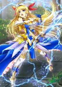 Rating: Safe Score: 8 Tags: armor cleavage million_arthur_irakon_ken sword tagme thighhighs User: KazukiNanako