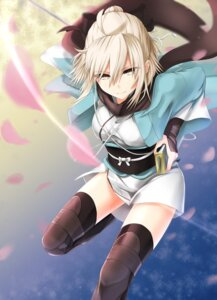 Rating: Safe Score: 38 Tags: celeryma fate/grand_order japanese_clothes sakura_saber sword thighhighs User: mash