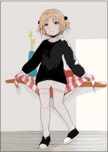 Rating: Safe Score: 18 Tags: kinomoto_(nazonoinu) sketch sweater thighhighs User: Nico-NicoO.M.