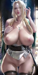Rating: Explicit Score: 94 Tags: bottomless breasts japanese_clothes naruto nipples no_bra open_shirt pubic_hair pussy sakimichan tattoo thighhighs tsunade uncensored User: BattlequeenYume