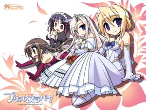 Rating: Safe Score: 15 Tags: charlotte_hazelrink chibi cleavage dress fujikura_yuu maid princess_lover! seika_houjouin sylvia_van_hossen wallpaper User: Kyubi_no_Youko