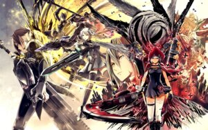 Rating: Safe Score: 20 Tags: bandages cleavage dress god_eater sword tagme thighhighs weapon User: NotRadioactiveHonest