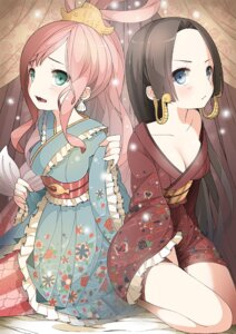 Rating: Safe Score: 44 Tags: boa_hancock cleavage kimono mermaid one_piece shirahoshi tagme User: charunetra