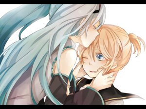 Rating: Safe Score: 7 Tags: hatsune_miku kagamine_len tama_(songe) vocaloid User: Radioactive