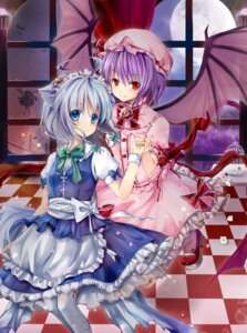 Rating: Safe Score: 27 Tags: animal_ears gyaza izayoi_sakuya nekomimi remilia_scarlet touhou wings User: Radioactive