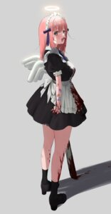 Rating: Questionable Score: 16 Tags: angel bandaid blood heels maid tagme weapon wings youichi_(45_01) User: Dreista