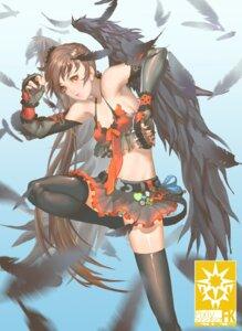 Rating: Safe Score: 14 Tags: bikini_top cleavage eddy_huang_zheng pantsu pixiv_fantasia pixiv_fantasia_fallen_kings shimapan skirt_lift thighhighs wings User: Humanpinka