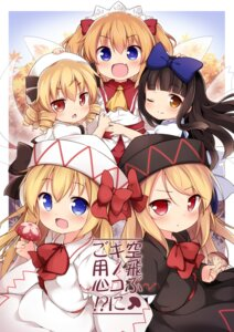 Rating: Safe Score: 17 Tags: baku_ph lily_black lily_white luna_child star_sapphire sunny_milk touhou User: aaayu