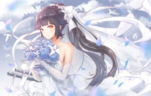 Rating: Safe Score: 44 Tags: azur_lane dress see_through shenhai_(2556146833) takao_(azur_lane) wedding_dress User: yanis