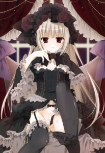 Rating: Explicit Score: 104 Tags: cum dress feet garter_belt gothic_lolita inugami_kira lolita_fashion nopan pussy stockings thighhighs User: Hatsukoi
