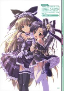 Rating: Questionable Score: 36 Tags: cleavage gothic_lolita komatsu_e-ji lolita_fashion maid pantsu stockings thighhighs User: fireattack