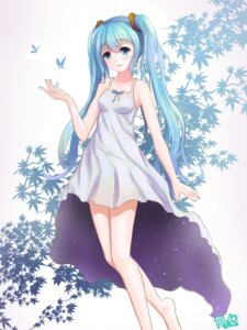 Rating: Safe Score: 39 Tags: byakuya_reki dress hatsune_miku summer_dress vocaloid User: charunetra