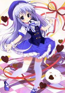 Rating: Safe Score: 48 Tags: dress gochuumon_wa_usagi_desu_ka? kafuu_chino nagayama_yuunon thighhighs tippy_(gochuumon_wa_usagi_desu_ka?) valentine User: KazukiNanako