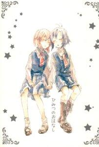 Rating: Safe Score: 10 Tags: aoi_(artist) hagiwara_yukiho kikuchi_makoto seifuku the_idolm@ster User: Radioactive