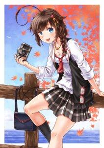 Rating: Safe Score: 18 Tags: cleavage kantai_collection megane seifuku shigure_(kancolle) sho_(sumika) User: Mr_GT