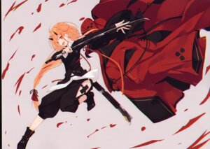 Rating: Questionable Score: 15 Tags: garter heels horns nagishiro_mito sword tagme User: Radioactive