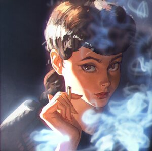 Rating: Safe Score: 31 Tags: bladerunner ilya_kuvshinov mary_sean_young rachael_(blade_runner) smoking User: リナ