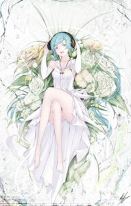 Rating: Questionable Score: 34 Tags: cleavage dress hatsune_miku headphones marumoru pantsu vocaloid User: blooregardo