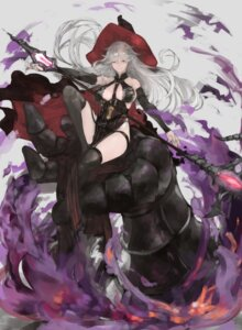 Rating: Safe Score: 27 Tags: dress garter granblue_fantasy magisa_(granblue_fantasy) n9+ no_bra stockings thighhighs weapon witch User: Mr_GT