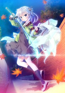 Rating: Safe Score: 55 Tags: akane_iro_no_kyoukaisen alcot_honeycomb amagasaki_kasumi dress game_cg masaki_kei sword User: moonian