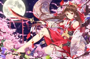 Rating: Safe Score: 51 Tags: hakurei_reimu miko pc99527 sword touhou weapon User: Mr_GT