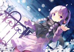 Rating: Safe Score: 47 Tags: chinomaron headphones pantyhose signed sweater vocaloid voiceroid yuzuki_yukari User: RyuZU