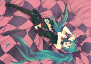 Rating: Safe Score: 16 Tags: a+i hatsune_miku tattoo thighhighs vocaloid world_is_mine_(vocaloid) User: charunetra