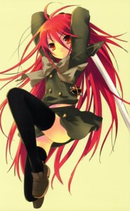 Rating: Safe Score: 13 Tags: ito_noizi scanning_resolution seifuku shakugan_no_shana shana sword thighhighs User: 月无名