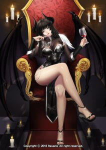 Rating: Safe Score: 65 Tags: chinadress heels horns mabinogi ravaniz wings User: charunetra