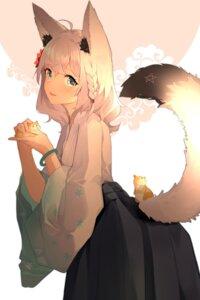 Rating: Safe Score: 29 Tags: animal_ears hololive japanese_clothes meng_ge_3_(565571710) shirakami_fubuki tail User: BattlequeenYume