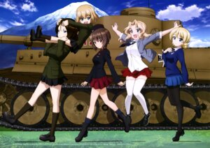 Rating: Safe Score: 39 Tags: darjeeling girls_und_panzer katyusha kay_(girls_und_panzer) nishizumi_maho nonna pantyhose seifuku thighhighs uniform User: drop