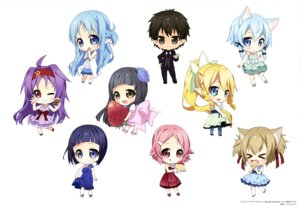 Rating: Safe Score: 26 Tags: animal_ears asuna_(sword_art_online) chibi dress kirito konno_yuuki leafa lisbeth nekomimi pointy_ears sachi_(sword_art_online) silica sinon sword_art_online wings yui_(sword_art_online) User: drop
