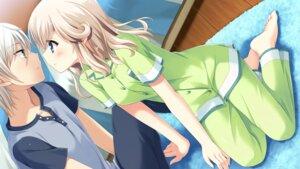Rating: Safe Score: 48 Tags: ashihara_daiki game_cg hulotte ikegami_akane pajama yagami_serika yome_sagashi_ga_hakadori_sugite_yabai. User: charunetra