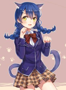 Rating: Safe Score: 27 Tags: animal_ears nekomimi seifuku shokugeki_no_soma tadokoro_megumi tail yuhuan User: charunetra