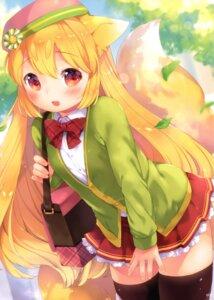Rating: Safe Score: 20 Tags: animal_ears kitsune mutou_mato seifuku sengoku_kitan_muramasa_-miyabi- sweater tagme tail thighhighs User: Radioactive