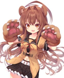 Rating: Questionable Score: 18 Tags: animal_ears kantai_collection kuma_(kancolle) seifuku skirt_lift sukemyon User: Dreista