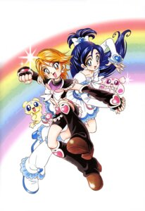 Rating: Safe Score: 6 Tags: bike_shorts dress futari_wa_pretty_cure heels kamikita_futago mepple mipple misumi_nagisa pretty_cure yukishiro_honoka User: drop