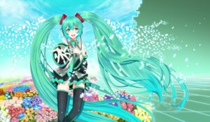 Rating: Safe Score: 25 Tags: hatsune_miku mio_1839 thighhighs vocaloid User: Nekotsúh