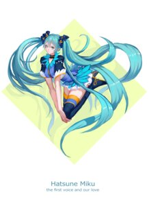 Rating: Safe Score: 20 Tags: hatsune_miku heels reisun001 thighhighs vocaloid User: charunetra