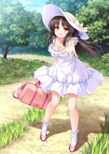 Rating: Safe Score: 73 Tags: aizome_kaguya cleavage dress kakeochi lass_pixy sasahiro summer_dress User: moonian