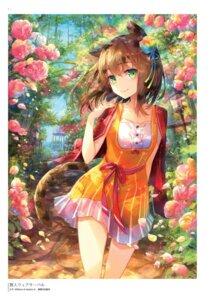 Rating: Questionable Score: 40 Tags: animal_ears dress fuumi nekomimi tail z/x_zillions_of_enemy_x User: Twinsenzw