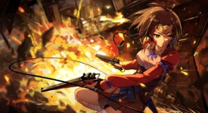 Rating: Safe Score: 51 Tags: baisi_shaonian bandages blood gun koutetsujou_no_kabaneri mumei User: mattiasc02