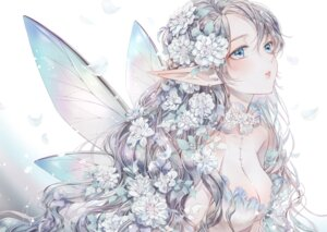 Rating: Questionable Score: 37 Tags: dekitani fairy no_bra pointy_ears tagme wings User: BattlequeenYume