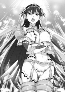 Rating: Questionable Score: 17 Tags: armor breast_hold cameltoe garter_belt hisasi masou_gakuen_hxh monochrome no_bra stockings tagme thighhighs User: kiyoe